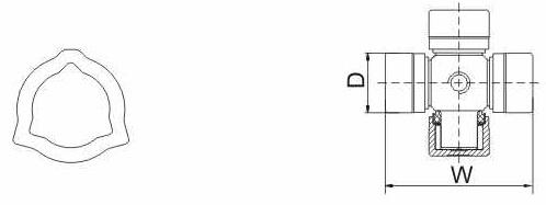 Карданный вал Т2S-BW-05G-05*826 (23,8 х 61,3)