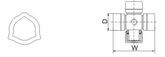 Карданный вал Т4S-BW-05G-05*1026 (27 х 74,6)